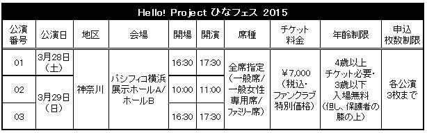 ひなフェス2015日程
