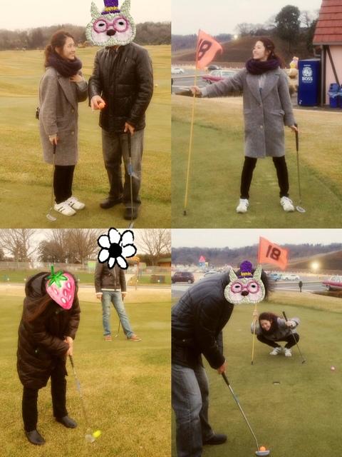 お父さんとパークゴルフ