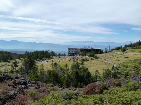 北八ヶ岳ロープウェイから眺めるアルプスの山並み・秋