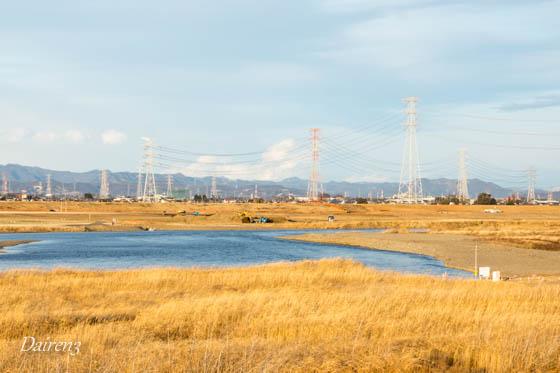 利根川上流を望む