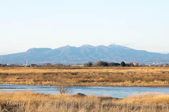 島村蚕のふるさと公園から見る赤城山