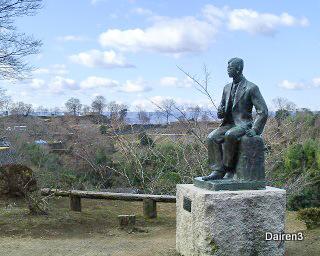 岡城址の滝廉太郎像