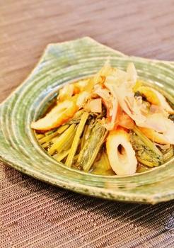 レンジで3分 小松菜と竹輪のさっと煮 (246x350)