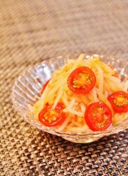 もやしとプチトマトの和え物 (254x350)