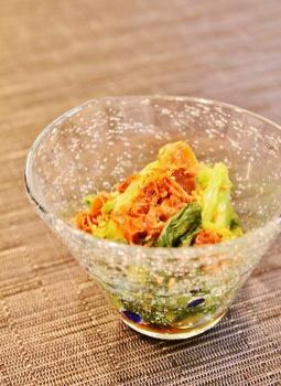 麺つゆ鰹残りレンチン小松菜浸し (255x350)
