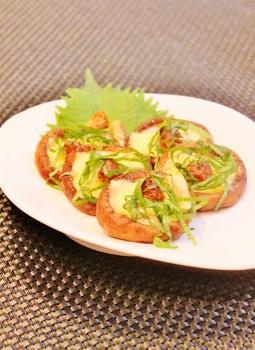 レンジで簡単椎茸の大葉味噌チーズ (255x350)