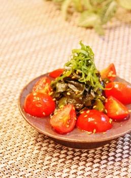 わかめとプチトマトの中華風簡単酢の物 (258x350)