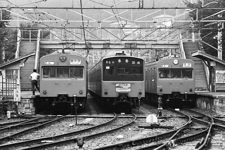 s6109青梅線古里駅103系&201系_001
