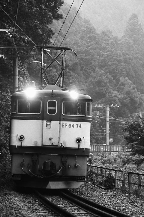 s6109青梅線御嶽駅-川井駅間FE64石灰石列車