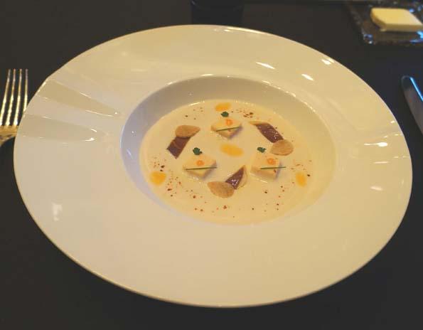 20150210 JR 3 白インゲン 鴨のスモーク 冷静スープ 21㎝DSC05936
