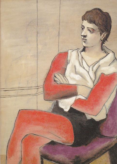 ピカソ 腕を組んで座るサルタンバンク1923 17㎝SCN