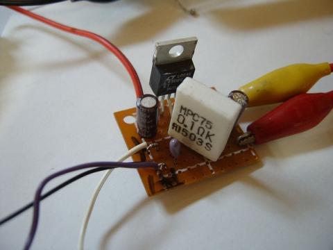 LT3080電子負荷・実験の様子2