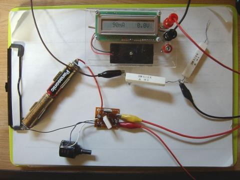 LT3080電子負荷・実験の様子