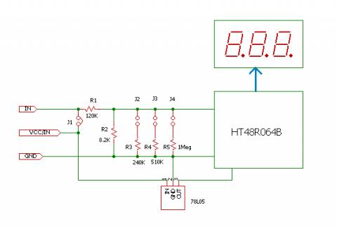 極小電圧表示器回路