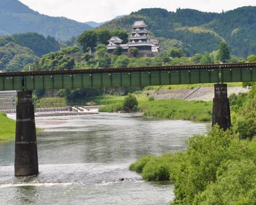 肱川と大洲城