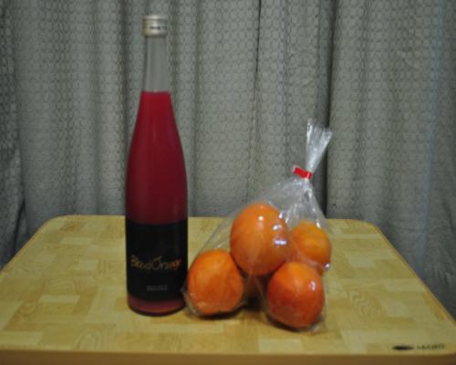 ジュースとブラッドオレンジ