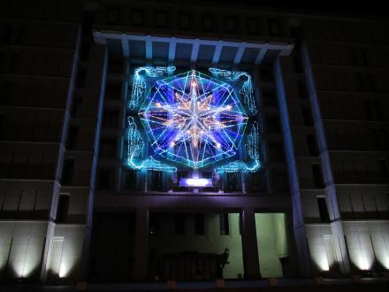 市役所ライトアップ