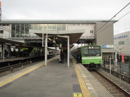 久宝寺駅待避