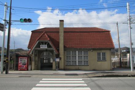 鳥居本駅1
