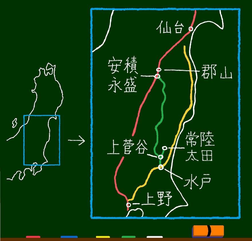 東日本簡易路線図