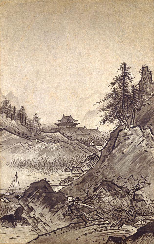 雪舟「秋冬山水図」秋図