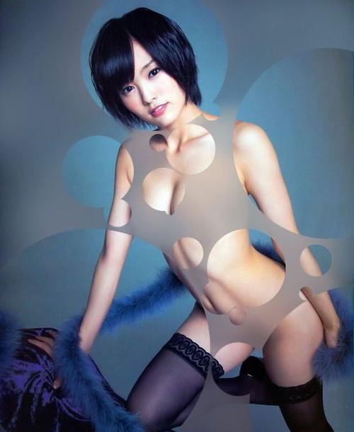 NMB48 山本彩(さや姉)のDカップ巨乳水玉コラが過激過ぎる件www #エロ画像