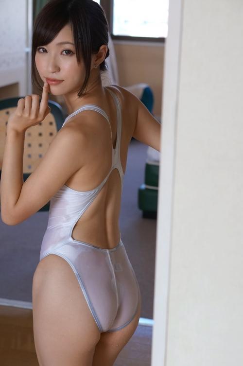 天使もえ Cカップ AV女優 濡れ透け競泳水着 25