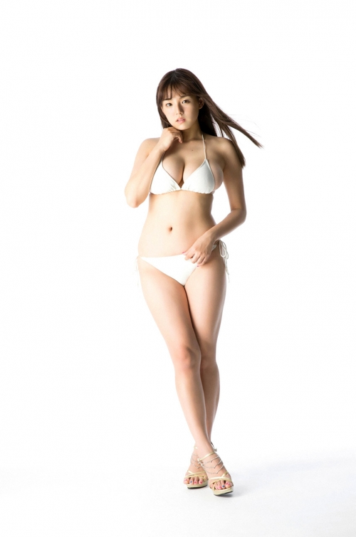 篠崎愛 Gカップ グラビア ワイシャツ 白水着 24