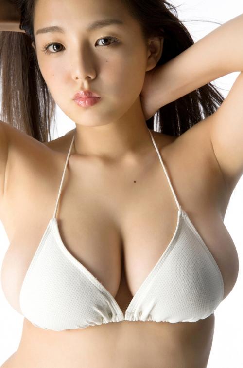 篠崎愛 Gカップ グラビア ワイシャツ 白水着 33