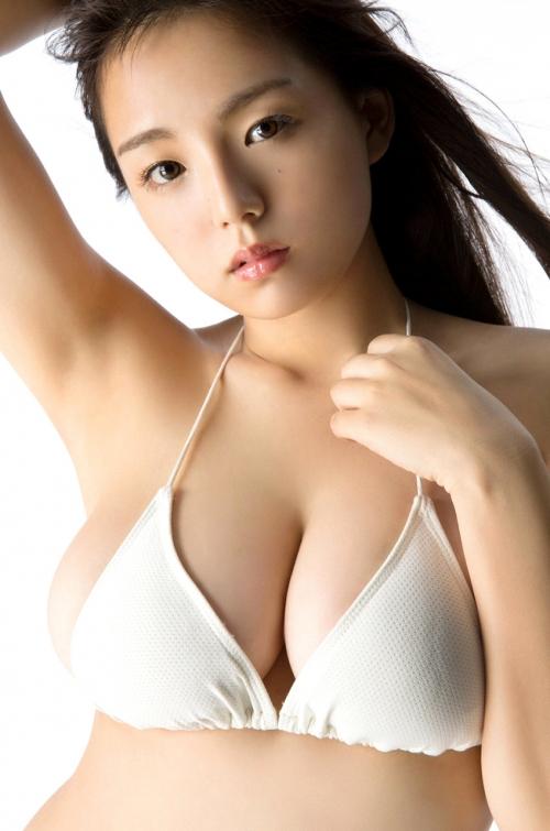 篠崎愛 Gカップ グラビア ワイシャツ 白水着 34
