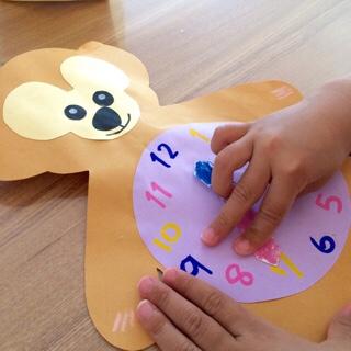娘 幼稚園 年中 作品 時計