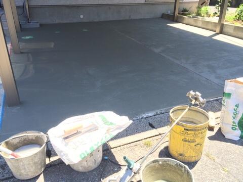新築一戸建て 入居後 補修工事 手直し 外構 コンクリート 土間 塗り直し