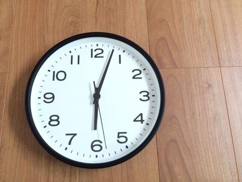 無印良品 無印 良品週間 MUJI リビング 掛け時計 位置 取り付け アナログ時計・大 ブラック 黒