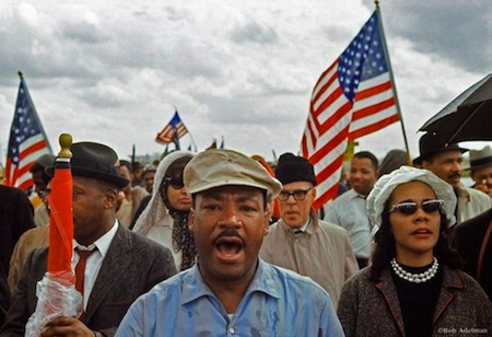 King at Selma march 3