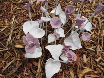 陶器で作られた花たち-5, 2015-6-20