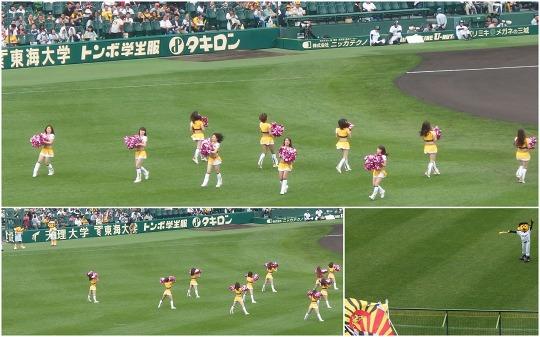 150419阪神・巨人戦試合前のチアダンス