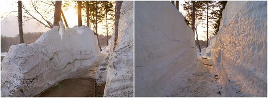 150427阿寒湖畔の雪の壁