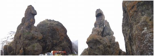 150428ウトロゴジラ(ローソク)岩