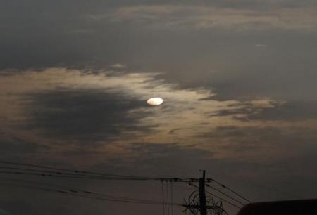 カラスと夕焼け雲 030