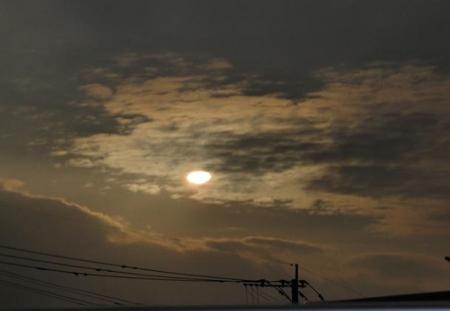 カラスと夕焼け雲 067