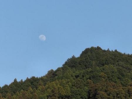 月と夕陽 008