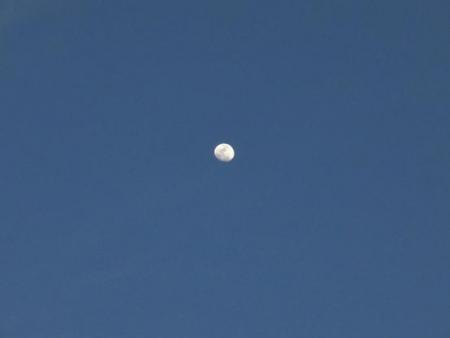 月と夕陽 075