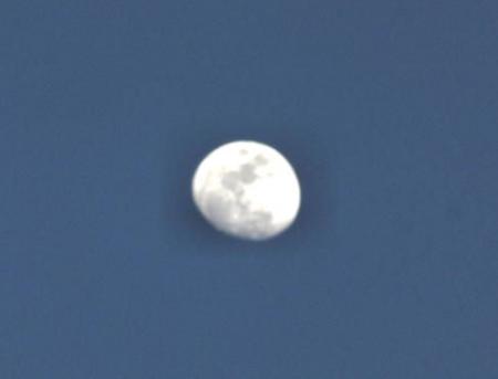 月と夕陽 077