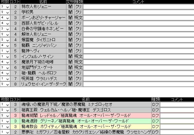 ウェルカムヘル黒単 20150308 大阪CS準優勝 dotto