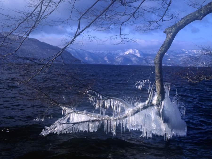 冬の十和田湖畔21992b