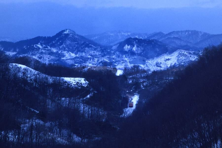同和鉱業小坂鉄道 小坂~篭谷1 1987年1月2日 16bitAdobeRGB原版take1b