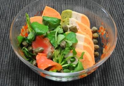 スモークサーモン&テリーヌ のサラダ