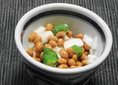 山芋・オクラ・納豆の三練り小鉢