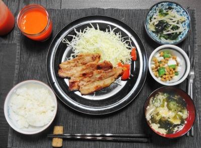 イベリコ豚の生姜焼き定食