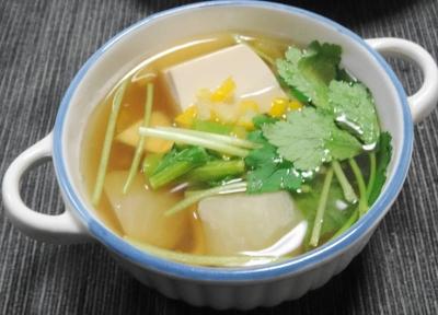 かぶと豆腐の和風コンソメ